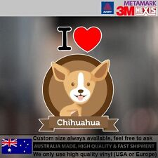 Chihuahua Dog Illustration Sticker Style Funny cute Gift  9.5 cm  x 12 cm