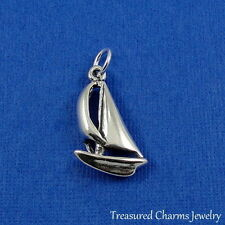 .925 Sterling Silver Nautical SAILBOAT CHARM Sail Boat Sailing Boating PENDANT