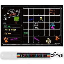 Chalkboard Wall Calendar Dry Erase Decal Wall Calendar - 32 x 16+Chalk Marker