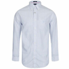 Camisas y polos de hombre de manga larga en azul GANT