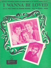 I Wanna Be Loved Piano Guitar Voice Sheet Music Ukulele 1934 Andrews Sisters