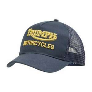 Triumph Motorcycles Oil Trucker Hat - Indigo | Fast Delivery