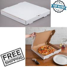 "16"" x 16"" x 2"" White Corrugated Plain Pizza Bakery Box Square Cardboard 50 Packs"