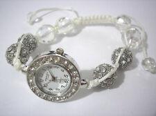 Ashley Princess Bling Bling Shamballa Bracelet Women's Watch White