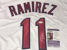 Jose Ramirez Cleveland Indians Autographed Signed Jersey JSA WITNESS COA Z