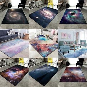 3D Nebula Sky Galaxy Non-slip Livingroom Kitchen Bathroom Floor Mat Rug Carpet