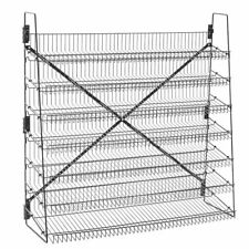 "Wire Candy Snack Rack, 7 Tier, 48"" Wide, Black, Free Stand or Mount"