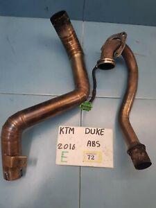 2016 KTM 125 DUKE EXHAUST HEADER & LINK PIPE MANIFOLD   (E72)