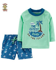 Carter's 2-piece Rash Guard Set 9 mos Authentic & Brand New