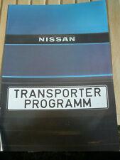 Nissan Transporter brochure c1985 German text