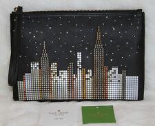 Kate Spade Glitzy Ritzy New York Skyline Willa Clutch Wallet Wristlet Handbag