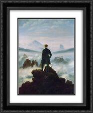 Friedrich 2x Matted 20x24 Framed Art 'Wanderer above the Sea of Fog'