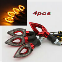4x LED Turn Signals Amber Light for Yamaha Road Star Warrior Midnight 1600 1700