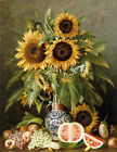 Sunflowers in a vase oil painting Giclee Art Printed on canvas L899