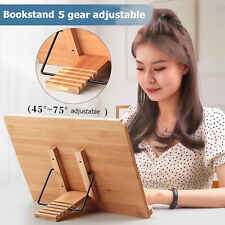 More details for bamboo receipe display cook book stand foldable holder for booksipads rest uk