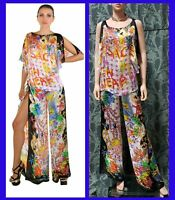 NEW VERSACE SEASHELL PRINT 100% SILK PANT SUIT 38 - 2