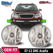 For Gmc Acadia 07-12 Bumper Driving Fog lights Lamps Replacement Pair Clear