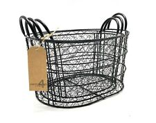 New ListingBlack Oval Metal Nested Baskets (Set of 3) by Handcrafted 4 Home