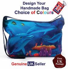 Dolphin Tote Bag, Dolphin Bag, Dolphin Tote Bag, Dolphin Handmade Bag