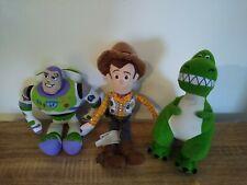Disney Pixar Toy Story Plush Woody Buzz Lightyear And Rex