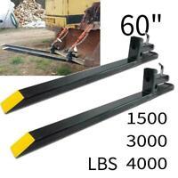 "1500/3000/4000 lbs Clamp on Pallet Forks Loader Bucket Skid Steer Tractor 60"""
