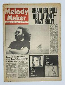 Melody Maker 23 September 1978 Grateful Dead Andy Mckay Bette Midler