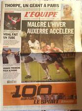 L'Equipe Journal 17/1/2003; Thorpe un géant à Paris/ Vidal/ Luc Alphand