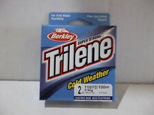 Berkley Trilene Cold Weather ice fishing line 2 lb test 110 yards electric blue