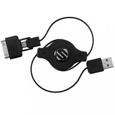 Scosche Retractable Charge and Sync Cable For iPad iPod & Android 2 in 1