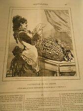 Caricature 1878 - La Chasse je t'envoie cette bourriche tué que ca Le chien