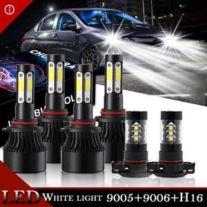 For Dodge Journey 2010-2018 Combo 9005 9006 LED Headlight 2504 Fog Light Bulbs