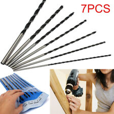 7Pc 300mm Extra Long Brad Point Auger Wood Drill Bit Tool Set 4,5,6,8,10,12mm