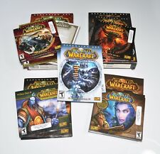 World of Warcraft PC Game Lot Burning Crusade Wrath Of Lich King Cataclysm Mists