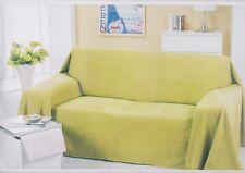 Sofaüberwurf 270x280 cm Alcantara Optik verschiedene Farben waschbar