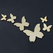50 Pieces Miniature Mixed Butterfly Wooden Shapes for Scrapbooking, Crafts etc