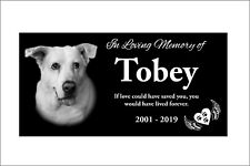 "12x6"" Tombstone Laser Engraved Custom Made, graver marker, pet stone, dog stone"