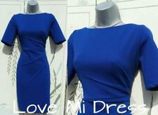 M&S - Gorgeous Blue Fitted Dress Sz 10 S  EU38 S