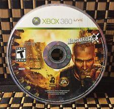 Mercenaries 2: World in Flames (Microsoft Xbox 360, 2008) USED (DISC ONLY)#10682
