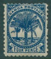 Samoa 1895 SG61 4d blue Palm Trees MH
