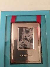 Kate Spade New York Mr & Mrs  9.5 x 7 cm Silver Frame Brand New in box Genuine