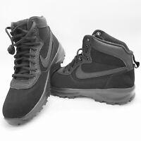 Nike Manoadome 844358-003 Triple Black Men's Hiking Trail Work Boots NEW!