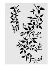 A4 BRANCH VINE LEAVES STENCIL-REUSABLE LAYERING TEMPLATE-WALL/FURNITURE/CRAFT