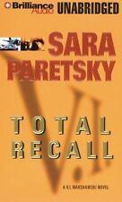 TOTAL RECALL unabridged audio book on CD by SARA PARETSKY - Brand New!