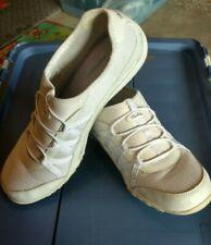 Sketchers Memory Foam Leather Slip On 22463 White Tennis Shoes Women Sz 11