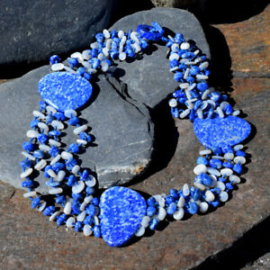 Offerings Sajen Lapis & Mother of Pearl Beaded Necklace with Lapis Stations