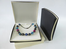 Large Necklace Box Black Ivory Gift Presentation Case  Suitable For Large Beads