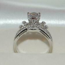 White Gold Over Wedding Engagement Ring Pear Diamond Certified 2.20 Ct 14K Solid