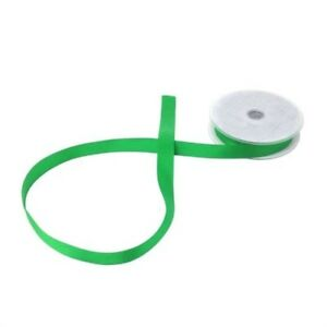 Double Faced Emerald Satin 15mm Ribbon 3 Sizes Avaliable