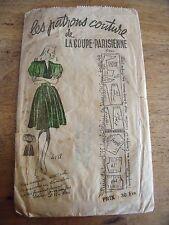 "ANCIEN PATRON""COUTURE ""LA COUPE PARISIENNE ROBE CHIC  TAILLE 44   ANNEE 40"