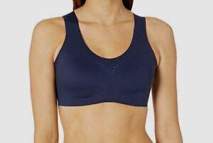 $119 Brooks Women's Blue Solid Breathable Dare Racerback Sports Bra Size 36C/D